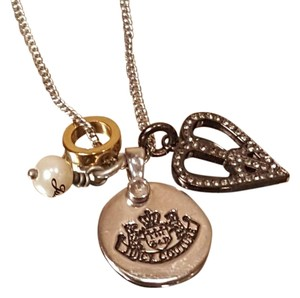 Juicy Couture Juicy Couture Charm Silver Plated Necklace 18