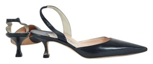 Manolo Blahnik Black Leather Slingback Pump Pumps