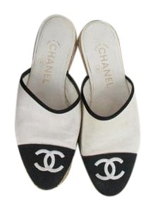 Chanel Canvas Backless Slings Flats