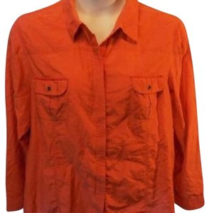 Chico's Button Down Shirt Orange
