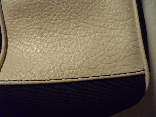 Ann Taylor LOFT Tote in navy, white & green Image 11