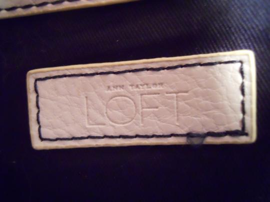 Ann Taylor LOFT Tote in navy, white & green Image 7