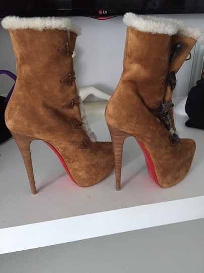 Christian Louboutin Camel/Suede Boots