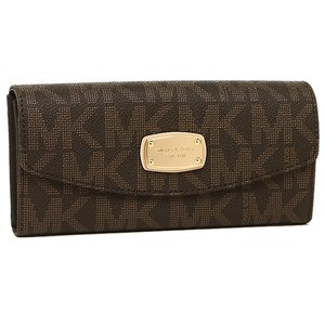 Michael Kors New with Tags Michael Kors Jet Set Slim Flap Wallet Brown Color