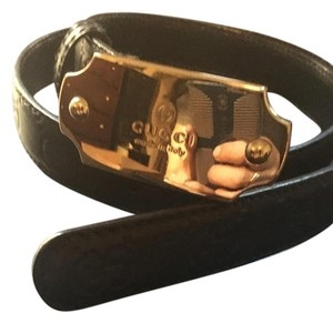 Gucci Gucci Guccissima Black Belt