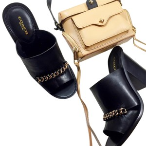 Coach Tory Burch Black Mules