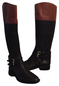Vince Camuto Brown and Black Leather Boots