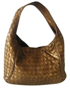 Michael Kors Woven Leather Hobo Bag