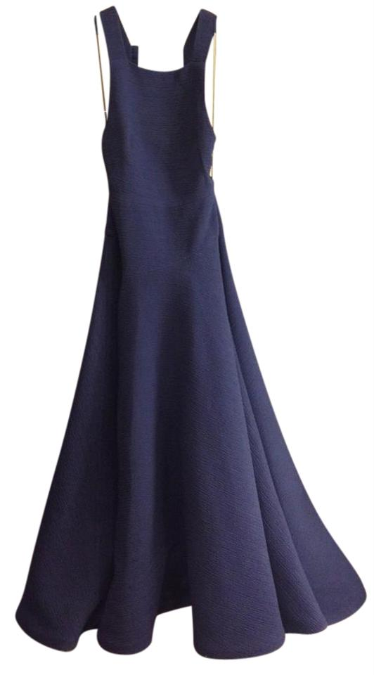 Jason Wu Navy 2015 Resort Collection Evening Gown Long Formal Dress ...