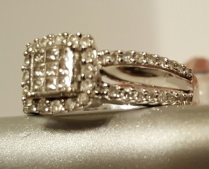 Zales Bridal Engagment Ring Size 7 14ct Wg