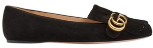 Gucci Suede Doble G Black Flats
