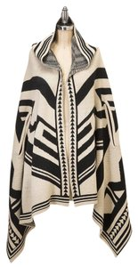 Look by M Poncho Hooded Poncho Sweater Cape