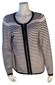 Coldwater Creek Striped Size Small Zipup Sweater