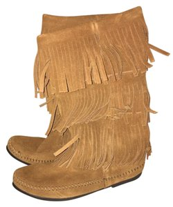 Minnetonka Suede Fringe Leather New Brown Boots