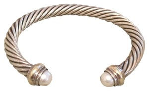 David Yurman David Yurman Pearl And Gold accent Bracelet Cable Style