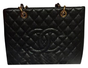 Chanel GST Handbag Tote in Black With Goldharware