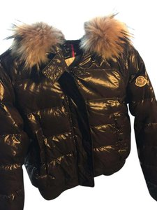 Moncler Down Fur Hooded Coat