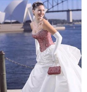 Maggie Sottero Red And White Maggie Sottero Wedding Gown Wedding Dress
