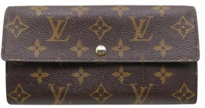 Louis Vuitton Credit Long Bifold Wallet Purse Monogram Brown M61725 clutch men