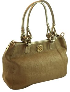 Tory Burch Satchel in Tan And Gold