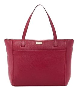 Kate Spade Leather Wkru2919 Highland Place Tote in BACCHUSRED