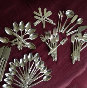 Is Flatware Set Holmes & Edwards Inlaid Danish Princess 1930's