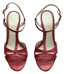 Banana Republic Leather Red Stiletto Sandals