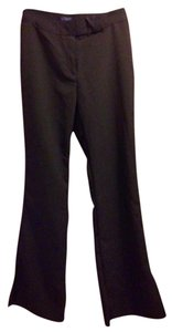 Star City Polyester Zipper Boot Cut Pants Black