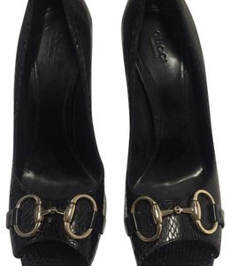 Gucci Sandals Heels Pumps Black Formal