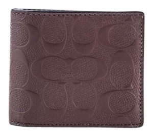 Coach Coach Compact ID Wallet In Signature Crossgrain Leather