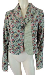 Free People Corduroy Cropped Floral Boho Shorty Multicolored Blazer