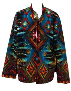 Chico's Tribal Open Multi-Colored Jacket