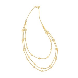 Tory Burch Multi Strand Logo Necklace, Gold