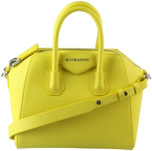 Givenchy Leather Shoulder Satchel in Yellow