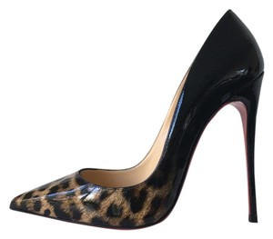 Christian Louboutin Ombre Leopard Degrade Leopard Print Brown Black Pumps