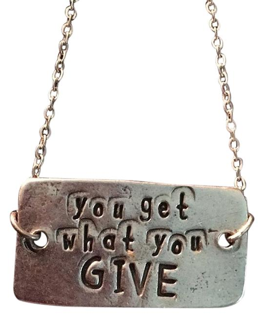 Item - Silver You Get What You Give Bracelet