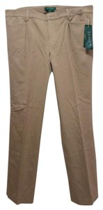 Ralph Lauren Adelle Straight Leg Slimming Fit Brand New Khaki/Chino Pants brown, khaki, tan