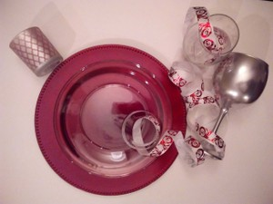 10 Red / Deep Bourdeaux Charger Plates