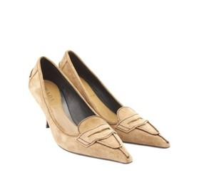 Prada Tan Suede Pumps