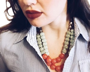 Anthropologie Anthropologie Beaded Bib Necklace