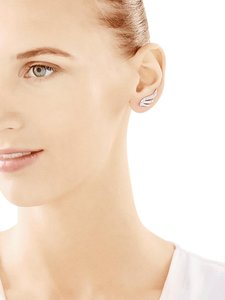 Other Silver Ear cuff earring with cubic zirconias