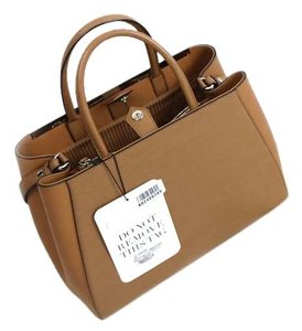 Fendi 2jours Leather Brand New Tote in Camel