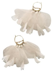 Anthropologie NWT Feathered Tulle Earrings