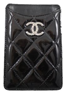 Chanel Chanel Patent Leather Quilted iPhone Case Cc Logo