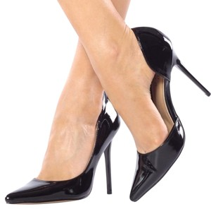 ShuShop Black Black Heels Stiletto Black Patent Pumps
