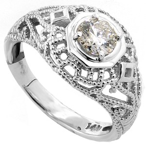 ABC Jewelry 1/2 Ct Brilliant Cut Diamond Wedding Ring