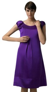 Dolce&Gabbana short dress Purple Comfortable Silk Satin Flowy A-line on Tradesy
