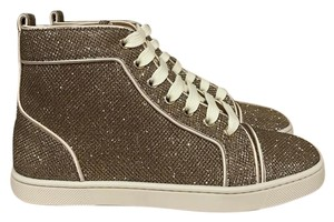 Christian Louboutin Bip Glitter Trainer Sneaker Lace gold Athletic