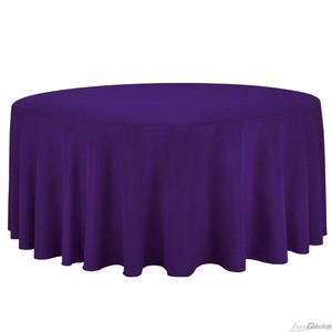 8 - Purple Polyester Tablecloths And 80 Purple Polyester Napkins