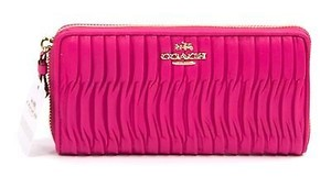 Coach Coach 53982 Madison Gathered Leather Zip Around Wallet